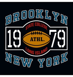 Brooklyn State College T-shirt Typography Graphics vector image vector image