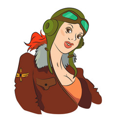 cartoon image of air force woman vector image