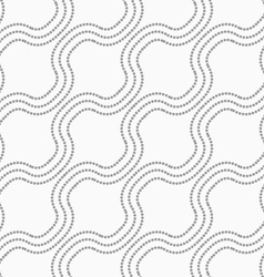 Dotted diagonal bulging waves vector image