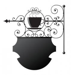 restaurant signboard vector image vector image