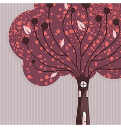 Tree House Background vector image vector image