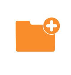 add attach create folder make new plus icon vector image