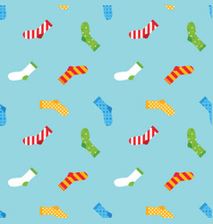 colorful socks seamless pattern background vector image vector image