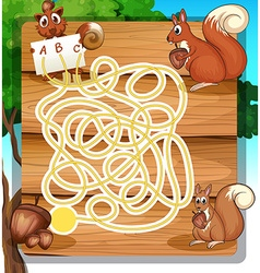 Game template with squirrels and nuts vector image vector image