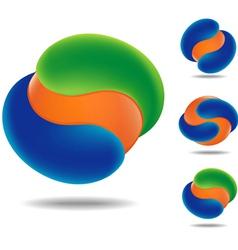 orange ball 01 vector image vector image