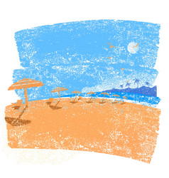 tropical beach seascape background symbol of vector image vector image