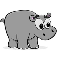Cartoon Hippo vector image vector image