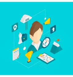 Coaching Business Isometric Icon vector image