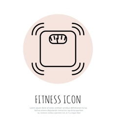 Fitness line art icon for your design vector image