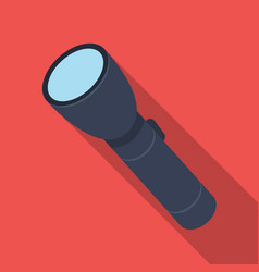 flashlight lighting facility for the detective vector image