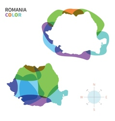 Abstract color map of Romania vector image vector image