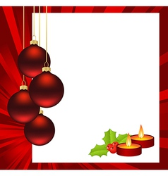 christmas abstract red vector image vector image