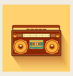 Classic 80s Boombox Portable Cassette Tape Player vector image