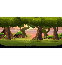 Forest and River Game Background vector image