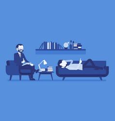 Male psychiatrist consulting vector