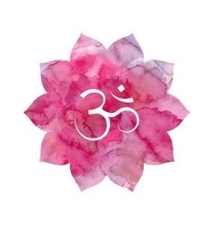 Om sign in lotus flower vector