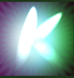 single light blue neon letter k of vector image