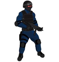 swat team member preview ump blue vector image vector image