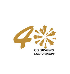 40 year celebrating anniversary template design vector
