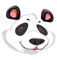 a head of panda vector image