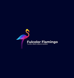 abstract flamingo colorful concept template vector image