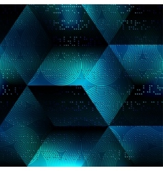 Abstract matrix geometric background vector
