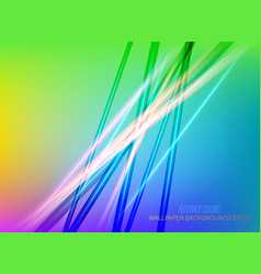 Abstract shiny colors lines vector
