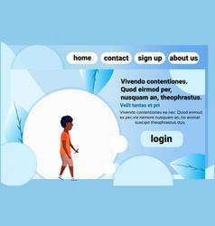 African american school boy chat bubble profile vector
