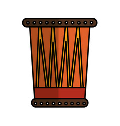African drum instrument icon vector
