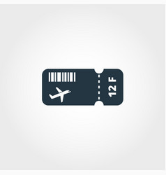 airplane ticket creative icon simple element vector image
