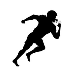 american football player uniform helmet silhouette vector image