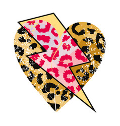 Animal print heart vector