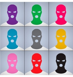 anonymous author of avatars in a cap-mask vector image