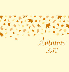 autumn falling leaves pattern with text autumn vector image