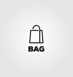 bag line art logo minimalist design vector image