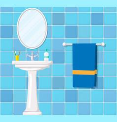 bathroom ceramic wash basin vector image