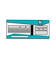 Boarding pass or plane ticket icon image vector