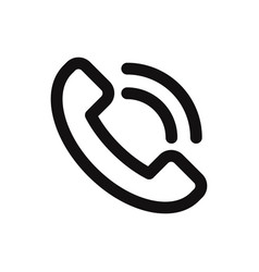 call icon in modern style for web site and mobile vector image