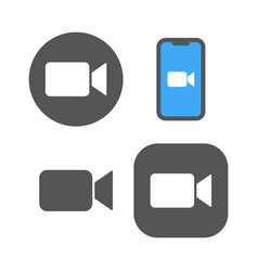 Camera icons - live media streaming application vector