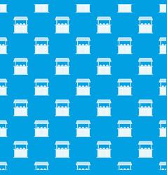Carnival fair booth pattern seamless blue vector