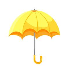 cartoon yellow umbrella flat style icon isolated vector image