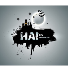 Castle horror on background of the moon vector image vector image