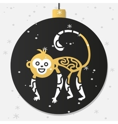 Chinese New Year monkey decoration ball vector image