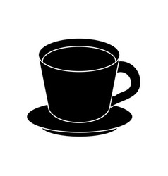 coffee cup plate pictogram vector image