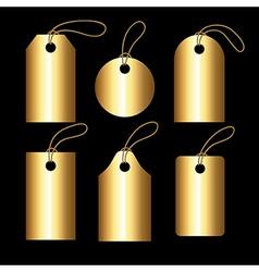 Collection of golden gradient tegs vector image