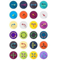 Color round arrows icons set vector image