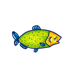 colorful swimming marine fish vector image