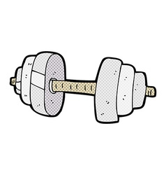 comic cartoon dumbbell vector image