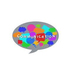 communication concept with dialogue speech vector image