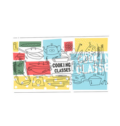 Cooking classes template vector